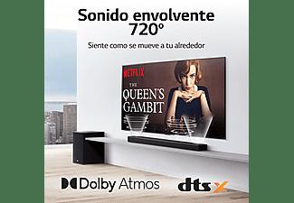 Barra de sonido - LG SP8YA, Hi-Res Audio, Dolby Atmos y DTS:X, Negro