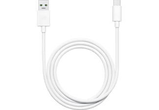 Cable de carga - OPPO, USB SUPER VOOC 1M USB TYPEC 7P, Blanco