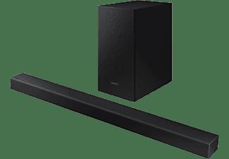 Barra de Sonido - Samsung 2020 HW-T450 Dolby Digital 2.1, Subwoofer inalámbrico, Bluetooth, Negro