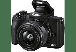 CANON Systemkamera EOS M50 Mark II Schwarz mit EF-M 15-45mm, Tasche SB130 und 16GB Speicherkarte