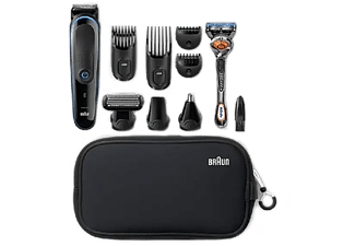 Rasuradora - Braun MGK3980, Set de afeitado, Multifunción 9 en 1, Maquinilla, Cortapelos, 13 Ajustes, Negro