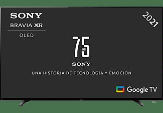 "TV OLED 55"" - Sony XR55A80JAEP, UHD 4K, Procesador cognitivo XR, SmartTv(Google Tv),  Acoustic Surface, Negro"