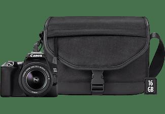 Cámara réflex - Canon EOS 250D, CMOS 24.1 MP, 4K, DIGIC 8, Wi-Fi, Negro + EF-S 18-55 f/3.5-5.6 III