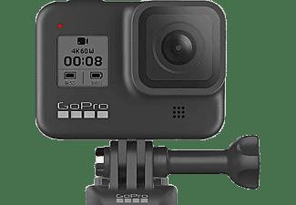 Cámara deportiva - GoPro HERO8 Black, Vídeo 4K60, 12 MP HDR, Slo-Mo 8x, Sumergible 10m, HyperSmooth 2.0, Negro