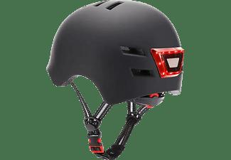 Casco - Youin LED, Para patinete eléctrico o bicicleta, Talla L, Luz trasera, Negro