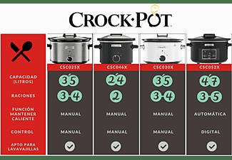 Olla - Crock-Pot CSC046X, De cocción lenta, 180W, 2.4 l, Negro