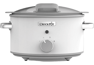 Olla - Crock-Pot CSC038X, De cocción lenta, 250 W, 4.5 l, Blanco