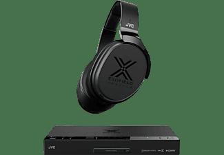 Auriculares inalámbricos - JVC XP-EXT1-E, Bluetooth, 12h autonomía, Multicanal, Negro + Sistema de sonido