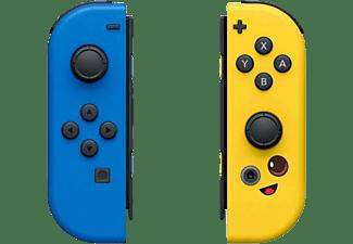 Mando - Nintendo Switch, Edición Fortnite, Dos mandos, Azul y Amarillo