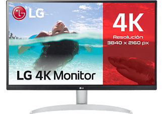 Monitor - LG 27UP600-W, 4K Ultra HD, 5 ms, 60 Hz, HDR 10, LED, Edge, Global Dimming