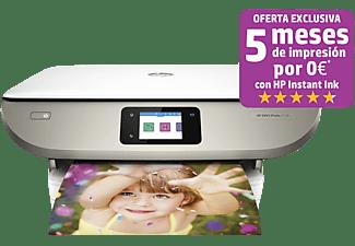 Impresora multifunción - HP Color ENVY Photo 7134, 4800 x 1200 ppp, Wifi, 14 ppm, Blanco