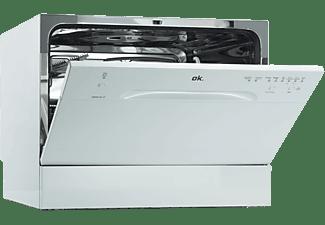 Lavavajillas - OK ODW 131 F, Independiente, 6 servicios, 6 programas, 55 cm, Rápido 40ºC, Blanco