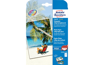 AVERY ZWECKFORM C2495-45R Superior Inkjet Fotopapiere 130 x 180 mm 130 x 180 mm Inhalt: 45 Blatt