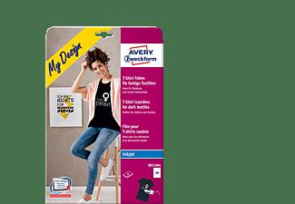 AVERY ZWECKFORM MD1004 für farbige Textilien, Textil-Folien 210 x 297 mm 210 x 297 mm A4 Inhalt: 8 Bogen