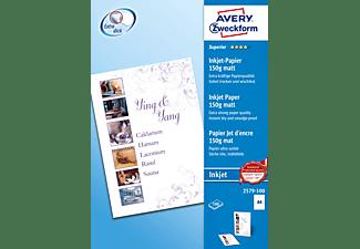 AVERY ZWECKFORM 2579-100 Superior, einseitig beschichtet, 150 g/m² Inkjet-Papier 210 x 297 mm 210 x 297 mm A4 Inhalt: 100 Blatt