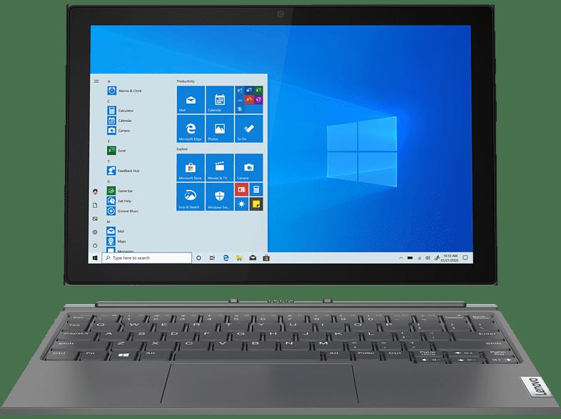 LENOVO IdeaPad Duet 3i, Detachable Notebook mit 10,3 Zoll Display, 4 GB RAM, 128 eMMC, Intel UHD Grafik 600, Graphitsilber