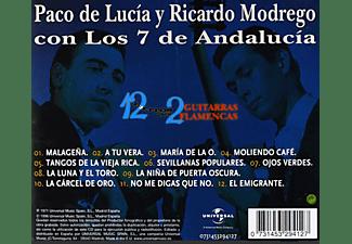 Paco De Lucía Y Ricardo Modrego Con Los 7 De Andalucía - 12 Éxitos para 2 Guitarras Flamencas - CD