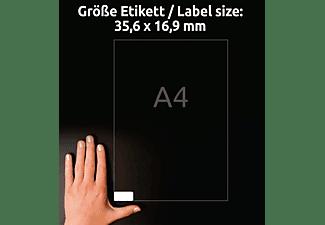 AVERY ZWECKFORM L4732REV-10, ablösbar, weiß, Universal-Etiketten 210 x 297 mm 35,6 x 16,9 mm A4 Inhalt: 800 Etiketten / 10 Bogen