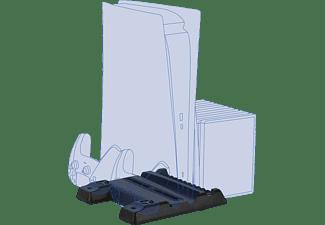KONIX PS5 Cooling & Charging Station Spaceship, PS5 Zubehör, Schwarz