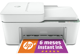 Impresora multifunción - HP DeskJet 4122e, Color, Wifi, 5.5 ppm, 6 meses de impresión Instant Ink con HP+