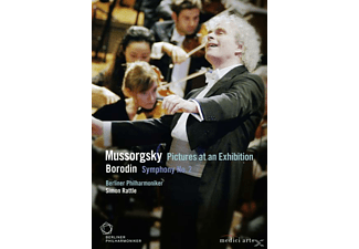 Simon Rattle - Mussorgsky -  Pictures At An Exhibition/Bordin - Symphony No  - (DVD)