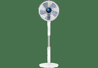Ventilador de pie - Rowenta VU5840F0, 70 W, 1.45m, 80 m³/min, 38 dB, 4 Velocidades, Altura ajustable, Blanco
