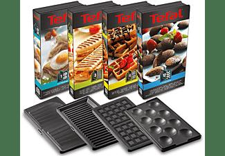 TEFAL SW854D Snack Collection Snack-Kombigerät Edelstahl/Schwarz