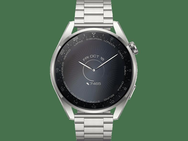 HUAWEI Watch 3 Pro Smartwatch Stainless Steel, 140 210 mm, Titanium Gray