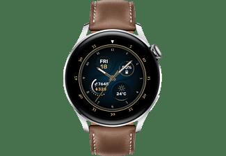 HUAWEI Watch 3 Classic, Silber/Braun