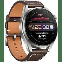 HUAWEI Watch 3 Pro Classic, Silber/Braun
