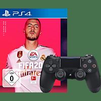 SONY PS4 DualShock 4 Wireless Controller V2 schwarz + FIFA 20