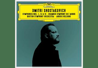 Boston Symphony Orchestra - SHOSTAKOVICH: SYMPHONIES 1,15,14,CHAMBER SYMPHONY  - (CD)