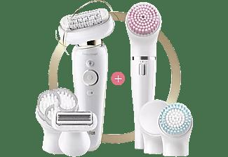 Depiladora - Braun Silk-épil 9 Flex 9-100, Set De Belleza, Depiladora Con Cabezal Flexible, Wet & Dry, Blanco