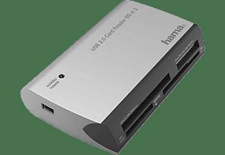 Lector de tarjetas - Hama Todo en uno 00200129, USB, 480 Mbit/s, Plata