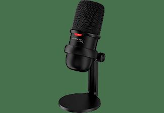 Micrófono - HyperX SoloCast, Para PC, Mac y PS4, USB, Cable 2 m, Gaming, Negro