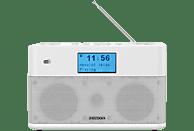 Radio portátil - Kenwood CR-ST50DAB-W, 6 W, Bluetooth, DAB+, FM con RDS, Modo Sleep, Entrada AUX, Blanco