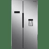 Frigorífico americano - Candy CHSBSO 6174XWD, 518 l, Inverter, Super Congelación, Dispensador Agua, Inox