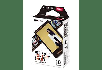 Papel fotográfico - Fujifilm Instax Film Mini Contact ww1, Marco negro, 10 hojas