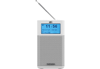 "Radio portátil - Kenwood CR-M10DAB-W, LCD 2"", FM con RDS, DAB+, Bluetooth, Jack 3.5 mm, Blanco"