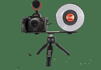 Kit para Vlogging - Rotolight Vlogging RL48, Con Trípode, Anillo de luz, Micrófono, Regulable, Negro