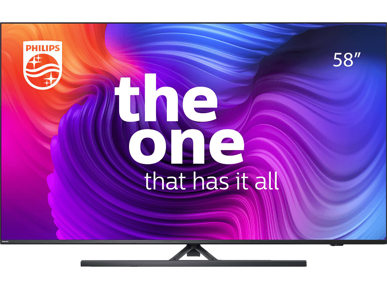 PHILIPS 58PUS8546/12 LED TV (Flat, 58 Zoll / 146 cm, UHD 4K, SMART TV, Ambilight, Android TV™ 10 (Q))