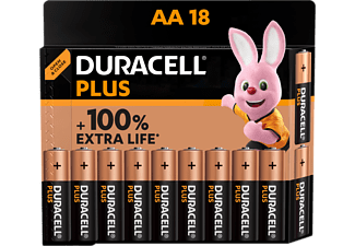 Pilas AA - Duracell AA (LR06) Plus Pack 18