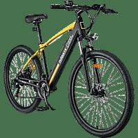 Bicicleta eléctrica - Nilox X6 National Geographic, 25km/h, 250W, Autonomía 60km, Vel. Shimano, Negro/Amarillo