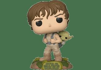 Figura - Funko Star Wars (Empire Strikes Back 40th) Pop Luke Skywalker and Yoda, 9.5 cm, Vinil, Multicolor
