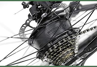 Bicicleta eléctrica - Nilox X6, 25km/h, 250W, Autonomía 80km, 21 Vel. Shimano, Negro
