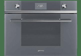 Horno - Smeg SF4101MS1, 40 l, Eléctrico, 4 funciones de cocción, Pantalla LCD, 45 cm, Gris