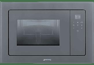 Microondas integrable - Smeg FMI120S2, Grill, 1000 W, 5 funciones, Función descongelación, 20 l, Plata