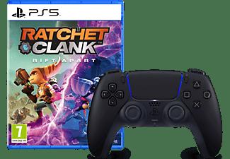 SONY DualSense™ Wireless-Controller schwarz + Ratchet & Clank: Rift Apart