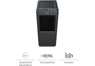 BECOOL BCRS2102F Luftreiniger Schwarz (55 Watt, Raumgröße: 60 m², HEPA-Filter H13)
