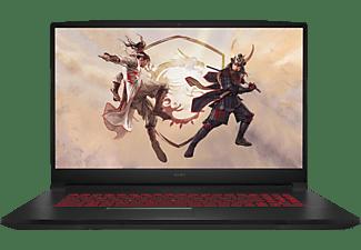 MSI KATANA GF76, Gaming Notebook mit 17,3 Zoll Display, Intel® Core™ i7 Prozessor, 16 GB RAM, 512 GB SSD, GeForce RTX™ 3050 Ti Laptop GPU, Core Black